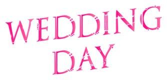 3D Word van de Huwelijksdag Concept Stock Foto's