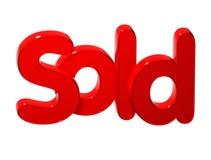 3D Word vendu au-dessus du fond blanc Image libre de droits