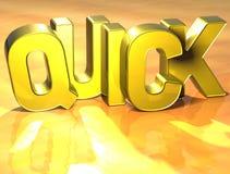 3D Word vite sur le fond jaune Photos stock