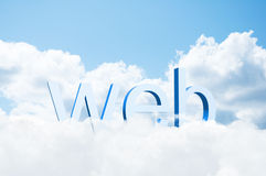 3d word web on the clouds Royalty Free Stock Photos