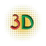 3D word written in red and green color comics icon royalty free illustration