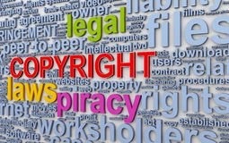 3d Wordcloud words tags of copyright Royalty Free Stock Photography