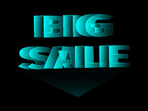 3d words big sale. Holographic banner, 3d words big sale Royalty Free Stock Photography