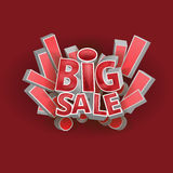 3d words big sale. 3d vector words big sale, eps 10 stock illustration