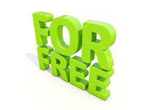 3d words for free Royalty Free Stock Images