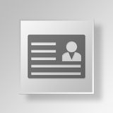 3D work permit icon Business Concept Royalty Free Stock Image
