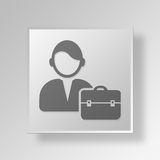 3D working professional icon Business Concept Stock Images