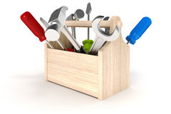 3d Working tools Royalty Free Stock Photography