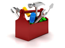 3d Working tools Royalty Free Stock Photo