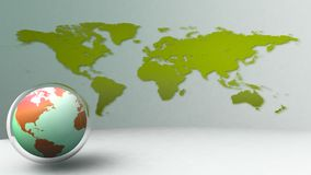 3d world globe icon. Abstract Stock Image
