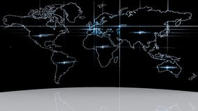 3d world globe icon. Abstract Stock Photography