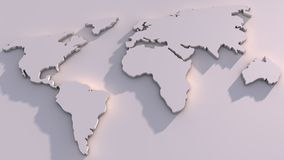 3D World Map Stock Photos