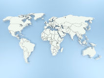 3D world map. Computer generated 3D world map Royalty Free Stock Photo