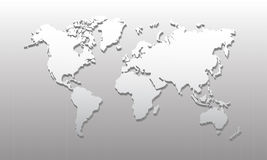 3D World map 01 Royalty Free Stock Photo