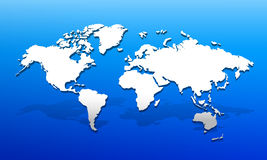 3D World map 01 Stock Photography