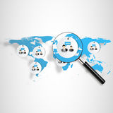 3d  world map illustration and infographics Royalty Free Stock Images