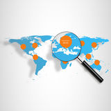 3d  world map illustration and infographics Stock Image