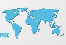 3d world map. Isolated on a light background royalty free illustration