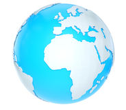 3D world map Stock Images