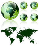 3d world map over the Earth Globe. Stock Photography