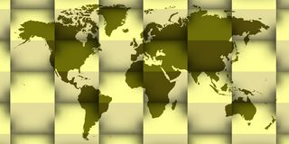 3d world map with shadows. Striking image for web header and different uses of home and marketing Stock Image