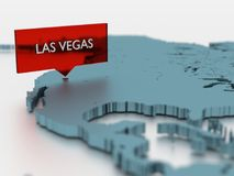 3d world map sticker - City of Las Vegas Stock Photos