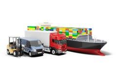 3d world wide cargo transport. Concept royalty free illustration