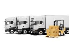 3d world wide cargo transport. Concept stock illustration