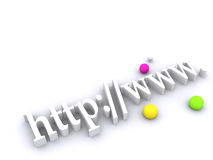 3d World Wide Web Text Background Stock Photography