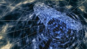 3D Wormhole abstract. 3D Rendering of an exotic wormhole abstract representation, for fantasy games or science fiction Stock Image