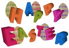 3d wpisowy szczęśliwy Easter ilustracji