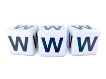3d WWW white dice Stock Image