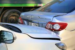 3d wypadkowa samochodowa ilustracja odizolowywający odpłacający się biel Obraz Royalty Free