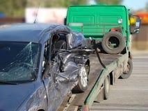 3d wypadkowa samochodowa ilustracja odizolowywający odpłacający się biel Obraz Stock