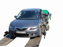 3d wypadkowa samochodowa ilustracja odizolowywający odpłacający się biel Zdjęcie Royalty Free