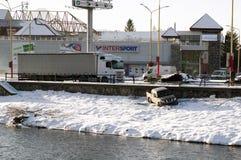 3d wypadkowa samochodowa ilustracja odizolowywający odpłacający się biel Pojazd z drogi Fotografia Stock
