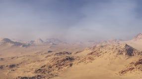 3d wytwarza? fantazja krajobraz osamotnione pustynne g?ry obraz royalty free