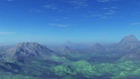 3d wytwarzający opróżniają krajobraz: Mgliste góry ilustracja wektor