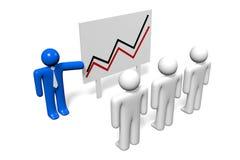 3D wzrostowego chart/prezentacja na białym tle - ilustracja wektor