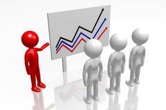 3D wzrostowego chart/prezentacja na białym tle - ilustracji