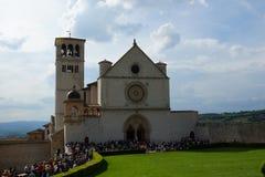D& x27 Basilica di San Francesco; Assisi, Basilika des Heiligen Franziskus von Assisi Lizenzfreie Stockfotografie