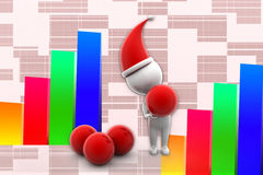 3d X Mas and Red Balls illustration Royalty Free Stock Image