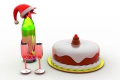 3d xmas cake concept Stock Photo