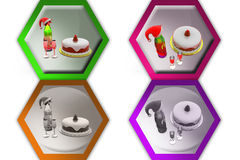 3d xmas cake icon Stock Photo