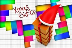 3d xmas gifts illustration Royalty Free Stock Images