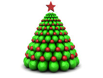 3d xmas tree. Abstract 3d illustration of xmas tree, over white background stock illustration