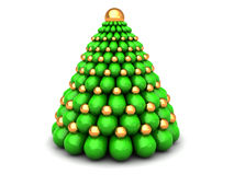 3d xmas tree. Abstract 3d illustration of xmas tree, over white background Stock Image