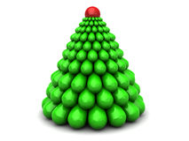 3d xmas tree. Abstract 3d illustration of stylized xmas tree, over white background Stock Photo