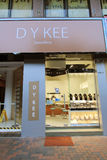 D y kee jewellery shop in Hong Kong Royalty Free Stock Images