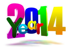 2014 3D. Year 2014 floating in zero the air Royalty Free Stock Photos